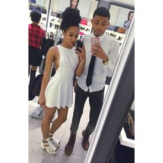 """Brother like Sis ! With my Sis @nynizzy ❤️ up at 1AM !!! BLACK FRIDAY !!! Working our asses off making this  Aldo"""