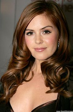 auburn hair, brown eyes - Too dark? #Isla Fisher