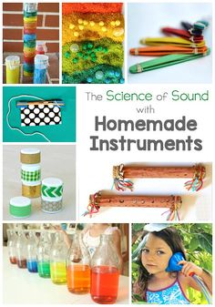 Explore The Science Of Sound With These Homemade Instruments These Diy Musical Instruments Make Great Stem Activities For Kids Of All Ages Preschool Music, Music Activities, Teaching Music, Science Activities, Activities For Kids, Science Experiments, Movement Activities, Science Ideas, Sound Science
