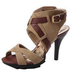 AIWEIYi Womens Summer Gladiator Sandals Platform High Heel Shoes Black Brown >>> Find out more about the great product at the image link.