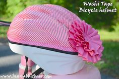 Bear Rabbit Bear Crafts: Washi Tape Bicycle Helmet for a {Princess} Mini Pallet Coasters, Diy Coasters, What Is Washi Tape, Bear Crafts, Kids Crafts, Washi Tape Crafts, Kids Bike, Bicycle Helmet, Bike Helmets