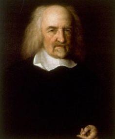 """Thomas Hobbes is geboren in 1588 en gestorven in 1679. Hij heeft gestudeerd aan de universiteit van Oxford. Thomas Hobbes filosofeerde over de ideale samenleving en redeneerde dat alleen een sterke koning kon voorkomen dat de mens zichzelf uitroeit. Een bekende uitspraak van hem is """"Homo homini lupus est."""" Dat betekent de mens is een wolf voor zijn medemens."""