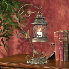 Leaf and Vine Scroll Pillar Candle Holder Lantern *** You can get more details by clicking on the image.(It is Amazon affiliate link) #15likes