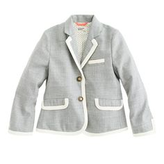 Crewcuts. Girls' schoolboy blazer in tipped flannel