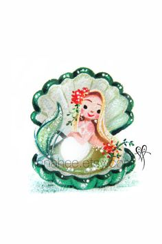 Enchanting Emerald fine art mini print by LianaHee on Etsy