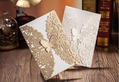 European American White/Gold Color Hollow Out Wedding Invitations/Birthday Invitations Business With Butterfly Wedding Invitations Lilac Wedding Invitations Low Cost Wedding Invitations From Bridelee, $49.22| Dhgate.Com