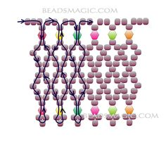 Free pattern for beaded necklace Colorful Glass | Beads Magic
