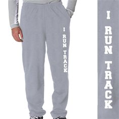 I Run Track Fleece Sweatpants - Enjoy our popular flannel pants year round. They are super comfortable and great for lounging around! Constructed from the finest quality 100% cotton. Lightweight and comfy.