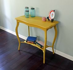 Vintage Painted English Accent Entry Table by UptownHeirloomCo, $245.00