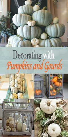 16 Ways to Decorate with Pumpkins and Gourds • Fall decorating ideas with these bloggers' inspiration for easy decor from the grocery store!