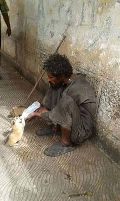Homeless,but still has a giving heart!!