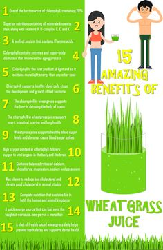 15 Health Benefits of Wheat Grass Juice #superfood #health