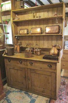 Pine Dresser, Welsh Dresser, Antique Dressers, Antique Pine Furniture, Pine Kitchen, Kitchen Dresser, China Cabinet, Liquor Cabinet, Antiques