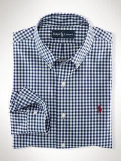 Shirt Ralph Lauren Custom-Fit Gingham Poplin Price: $89.50