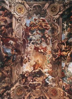 Pietro da Cortona, Allegory of Divine Providence and Barberini Power, 1633-1639, fresco (Palazzo Barberini, Rome)