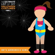 Need a last minute #costume? 80's Aerobic Girl is super easy! View 250+ easy, DIY costumes: ecampusdot.com/1MUKey7