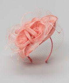Look at this #zulilyfind! Pink Mesh Flower Headband #zulilyfinds