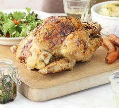 Rosemary & lemon roast chicken - I think it's on my menu this weekend with nice fluffy roast potatoes.....