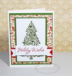 CTMH White Pines Holiday Wishes Christmas Card #CTMH #christmascard #whitepines