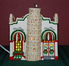 "DEPT 56 Snow Village Christmas Lighted ""PISA PIZZA"" #54851 MIB"