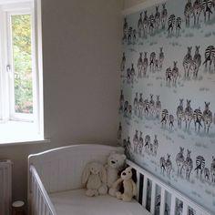 Really love this image a client has just sent in of our Dazzle wallpaper in her little boys bedroom. #zebras #zebrawallpaper #safari #animals #africa #juliettraverswallpaper #interiors #inspiration #interiordesign #homedecor #childrensbedroom