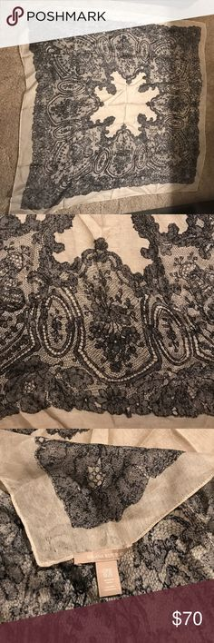 Banana Republic Lace Scarf This Banana Republic Scarf is super lightweight and easy to dress up or down. You can wear it many different ways and it goes with everything! Banana Republic Accessories Scarves & Wraps