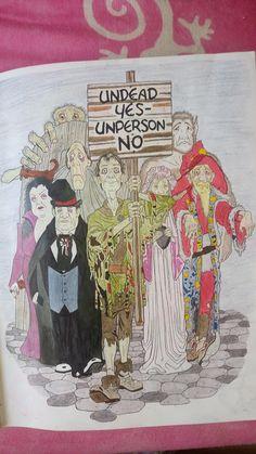 Discworld Colouring Book No Muertos Mundodisco Kidby Pratchett