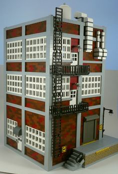 It's not pretty, but it's accurate. Every city is filled with buildings that look just like this. #LEGO
