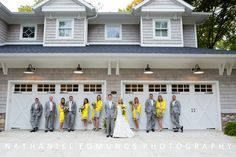The pop of yellow is perfect for this wedding party.     See more >>>  http://blog.nathanieledmunds.com/2012/11/28/ashley-jared-2/