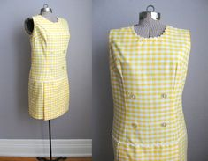 1960s Scooter Dress Vintage Playsuit Shorts by SoubretteVintage, $98.00