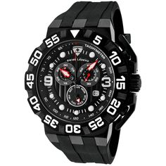 Swiss Legend Men's Quartz Watch with Black Dial Chronograph Display and Black Silicone Strap SL-10125-BB-01 >>> Click image to review more details.