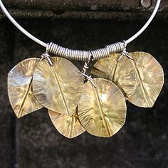 brass leaf necklace  from Duffy Designs
