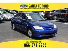 2004 Blue Honda Civic VP 37275S