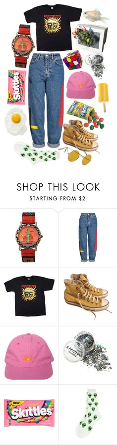 """""""Childish"""" by h3ykatrina on Polyvore featuring American Apparel, Topshop, Converse and Retrò"""