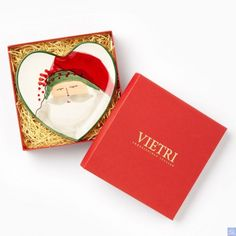 Vietri Old St. Nick Heart Plate