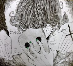 Todos los derechos reservados a sus respectivos autores Sweet Drawings, Amazing Drawings, Art Drawings, Gas Mask Art, Character Art, Character Design, Anime Songs, Arte Obscura, Illustration Art Drawing