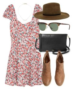 """""""Untitled #4276"""" by laurenmboot ❤ liked on Polyvore featuring MANGO, Ray-Ban, ASOS, FOSSIL, H&M and Isabel Marant"""