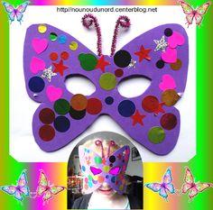 Masque papillon réalisé par Charlie 3 ans pour mettre avec son déguisement pour notre carnaval, http://nounoudunord.centerblog.net/4287-masque-papillon-realisee-par-charlie-3-ans