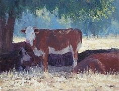 Keeping Cool by Kathleen Dunphy Oil ~ 14 x 18