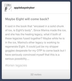 Amazing theory! I'm convinced that when they restart lorien the planet will bring back all the dead numbers as a reward! Adam and one, eight and marina!! How a,axing would the reunion be!?!