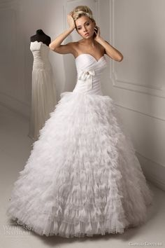 Capelli Couture 2013 Bridal Collection - Russia Linda Strapless Ball Gown with Ruffle Skirt