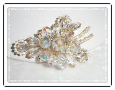 Vintage Juliana Lovely Clear Icy Halo Brooch   D&E Pin-900a-060514000 #handmade #etsyretwt