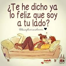 Preciosa, Have I told you yet how happy I am to be at your side? Love Is Comic, Frases Love, Qoutes About Love, Love Phrases, Love Words, Quotes For Him, Love Quotes, Deep Quotes, Birthday Wishes Messages