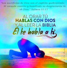 """""""Los sacrificios de Dios son el espíritu quebrantado;Al corazón contrito y humillado no despreciarás tú, oh Dios."""" Salmos 51:17 (RVR 1960)"""