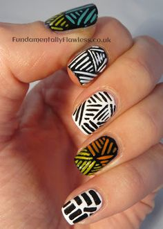 Tribal nail art on Fundamentally Flawless