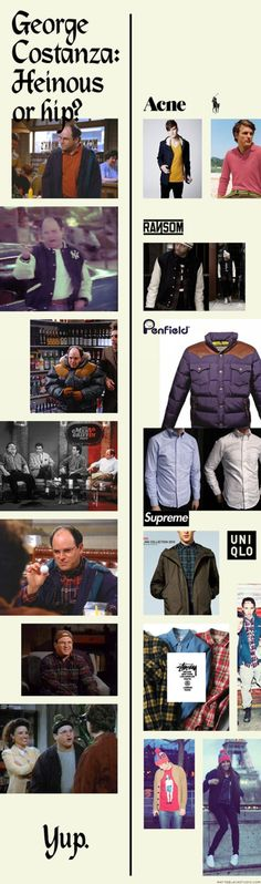 This is kind of brilliant. Start & Finish pulled together a bunch of Costanza looks that could practically form a guide to dressing the modern hipster. In the tradition of unlikely style icons like...