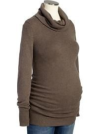 Maternity Cowl-Neck Sweaters