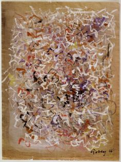 Mark Tobey - Untitled, 1968, gouache and tempera on paper, 31 x 23 cm