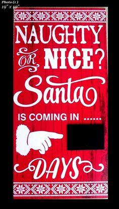 Countdown To Christmas, Christmas Bible, Christmas Chalkboard, Days Until Christmas, Christmas Door, Christmas Signs, Christmas Projects, Christmas Holidays, Christmas Ornaments