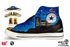 Custom Painted Converse Sneakers by nikiartstudio on Etsy, $300.00